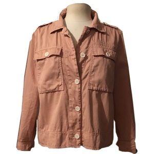 2017 J.CREW Garment-Dyed Safari Jacket sz 8 Blush